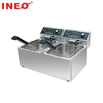 CE certificated Stainless steel induction deep fryer