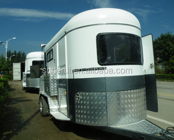 China factory 2 horse float trailer for sale Australia with living quarter