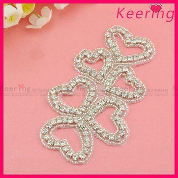 Fashion bridal heart shape rhinestone applique wedding decoration fashion bridal heart shape rhinestone applique wedding decoration accessories from guangzhou market in china wra junglespirit Images