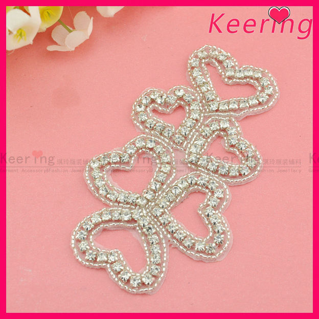 Buy cheap china china wedding accessories products find china fashion bridal heart shape rhinestone applique wedding decoration accessories from guangzhou market in china wra junglespirit Images