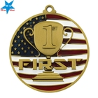 Newest Customized Souvenir Flag Of the United States 3D Metal Medal With Ribbon
