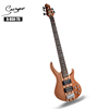 Wholesale active pickup neck through body 5 string bass guitar