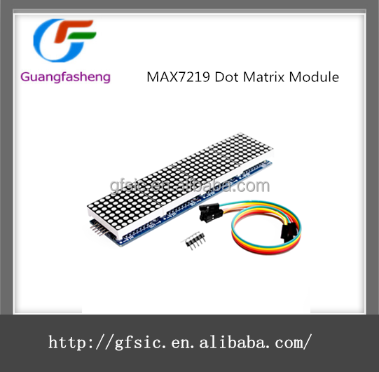 MAX7219 Dot Matrix Module Microcontroller 4 In One Display with 5P/cable