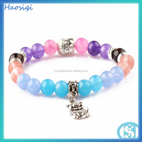 natural stones jewelry making cheap rosary fashion beaded bracelet