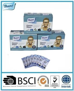 China Alcohol Free L Glasses Cleaning Lens Wet Wipes Manufacturer ...