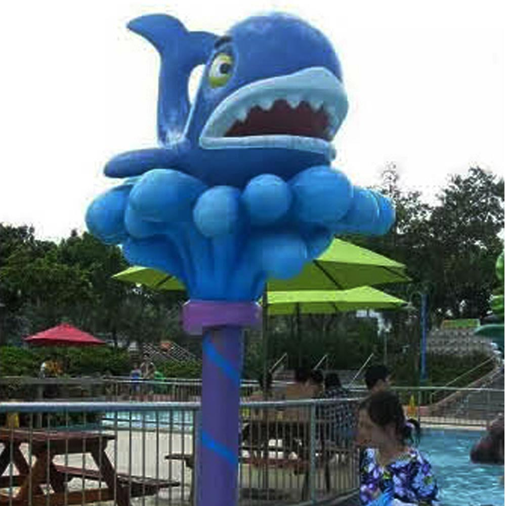 Kids outdoor water park toys dolphin aqua play for aqua park