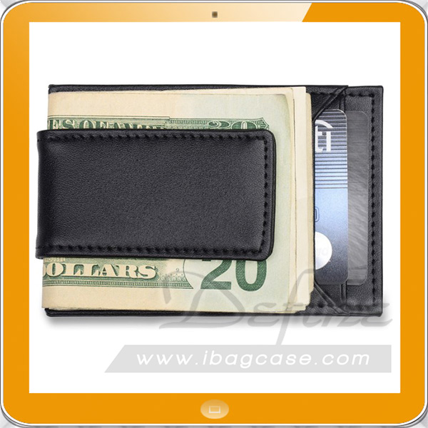 Business mens money clip cardholder great for traveling