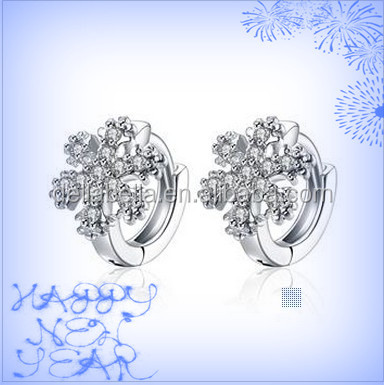 Fashion k gold smooth set auger ear clip platinum plating earring