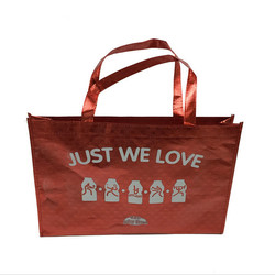 Promo shopping bags with CMYK printing, PP woven bag, Non woven laminated bag