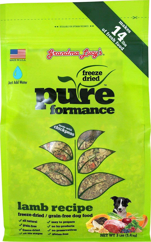 GRANDMA LUCY'S 844213 Pureformance Grain Free Lamb Food for Dogs, 3-Pound