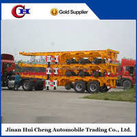 SIHANOUKVILLE port widely used container chassis trailer 2 axel Terminal trailers 20ft Terminal truck trailers for sale