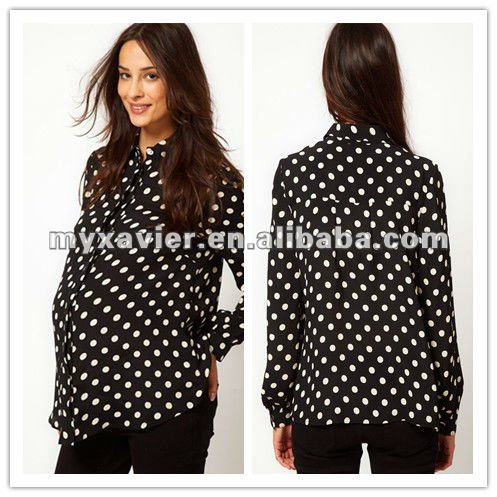 Maternity Shirt With Spot,Maternity top