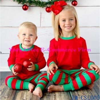 0 8 years old baby clothes infant toddler child unisex christmas pajamas red green stripes