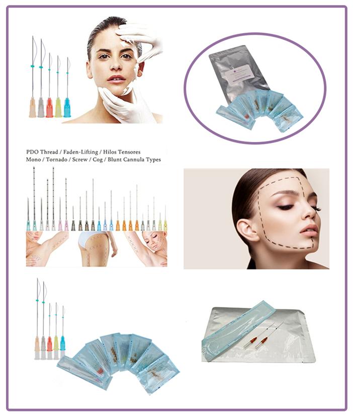 Face Lifting Magicalift  Fine Cut Needle (Mono/Screw/cog ) PDO Thread