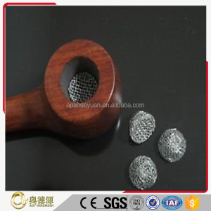 Free sample high quality smoking pipe filter wire mesh / tobacco smoking pipe screen