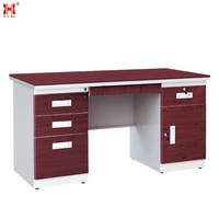 Wooden Top metal frame Office Desk ,Steel Office Table,Executive Office Table Specifications