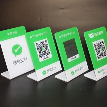 Customized Acrylic Wechat Alipay Qr Code Mobile Scan Code Payment Display  Board - Buy Acrylic Display Stand,Wechat Alipay Qr Code,Scan Code Display