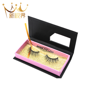 Factory price mink strip lash false eyelash with custom logo or private label