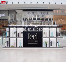 custom perfume kiosk display showcase for shopping mall