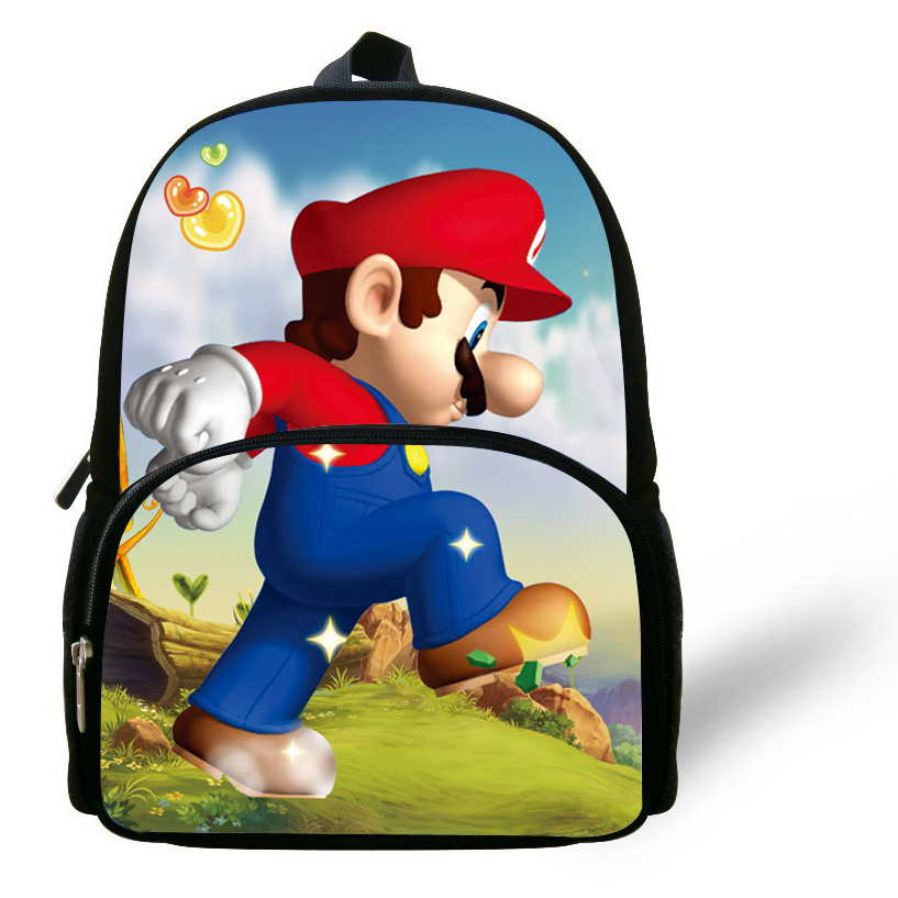 a93060e9c4 Buy 12-inch Little Girl Bags Kids Backpack Super Mario Bag Printing Aged 1-6  Cartoon Children School Bags For Boys in Cheap Price on Alibaba.com