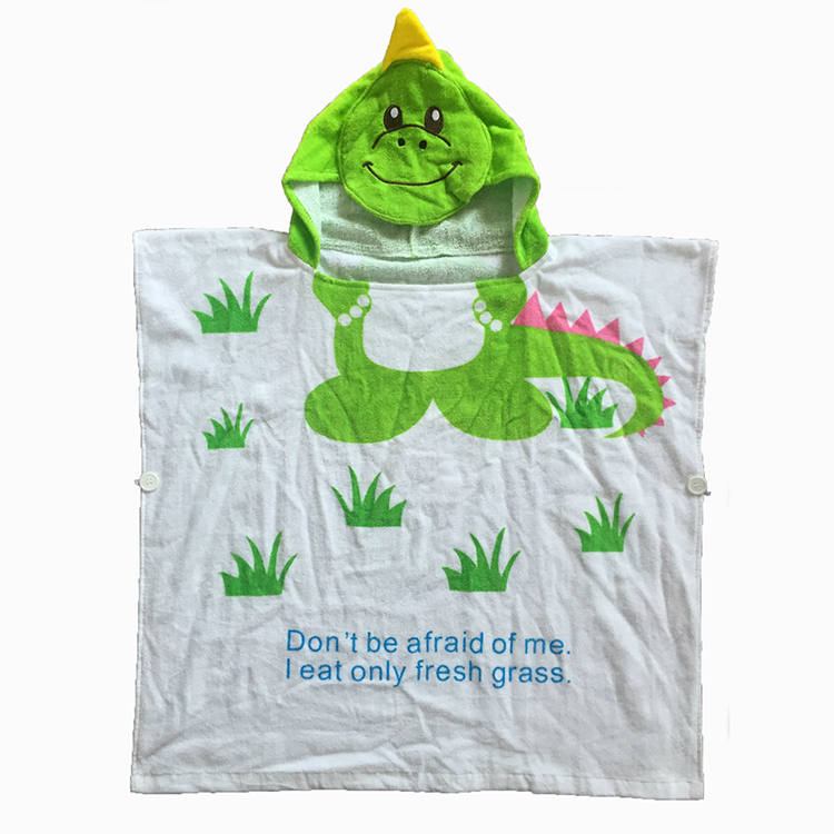 Professional factory supply kids hooded poncho towel