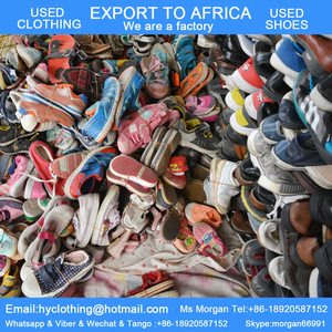 big stock of used shoes for children