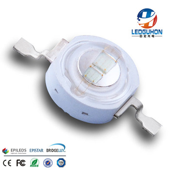Blue double chips High power led 5w high lumen 6v with 2chips integrated led diode