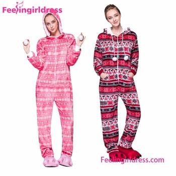 micro fleece suit custom made adult print christmas onesie
