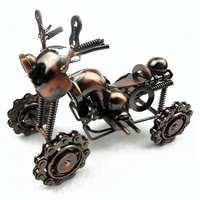 Creative gift iron motorcycle model home decor fashion vintage Four wheel beach motorcycle 1805321