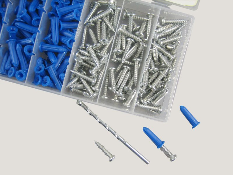 wall anchors and screw 201pc hardware assorted kit wall anchors and screw