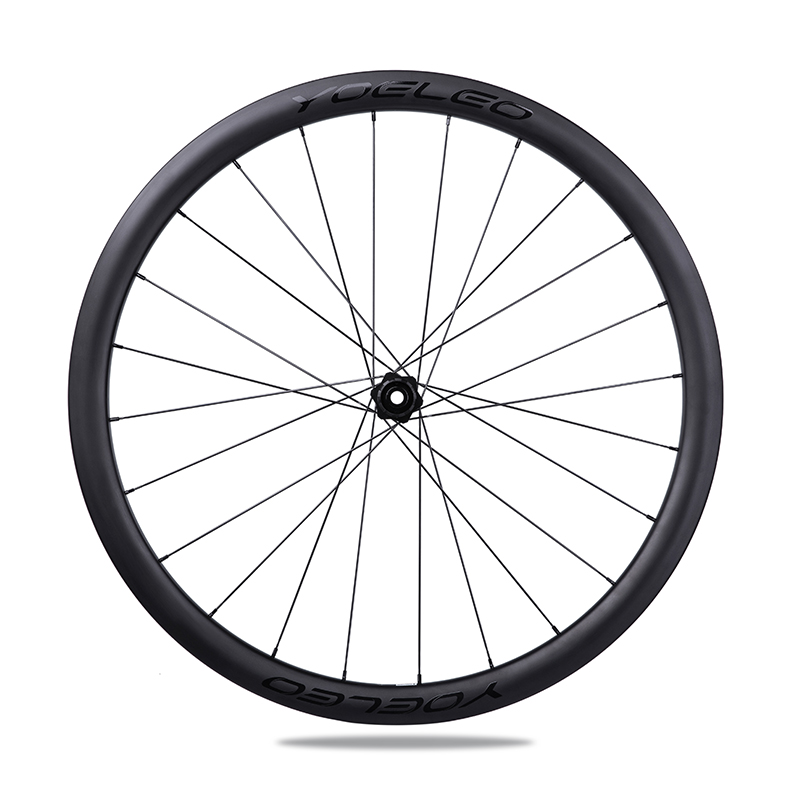 Chinese Yoeleo Cycling Carbon Road Disc Brake Tubular Bicycle 38mm Wheelset Wide China Race Front Rear Wheels Spokes 24