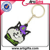 New low price metal cool plastic halloween skull keychain hard hat key ring