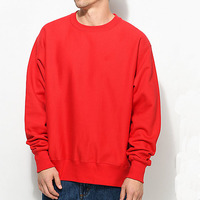 Fashion Solid Color Plain Crew Neck Sweat Shirt Custom Made Men Sweaters Jumpers