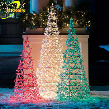 Led Spiral Christmas Tree Outdoor Lighted Cone Trees