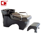 Chinese style design stainless steel beauty salon hair washing shampoo chair bed