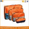 Hot sale polyester packing cubes travel organizer bag set for clothes