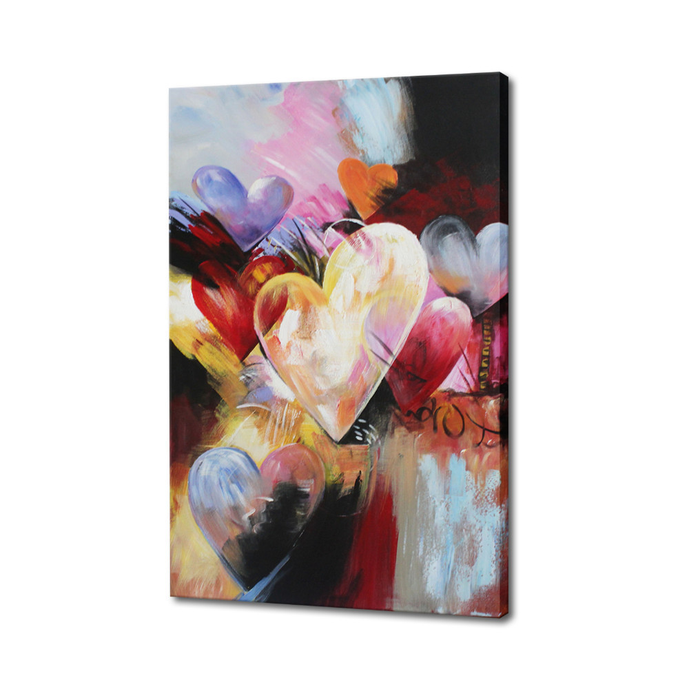Modern Wall Deco Floral Art Abstract Knife Flower Oil Painting On Canvas Photo For Picture Canvas Art Pictures Decorated