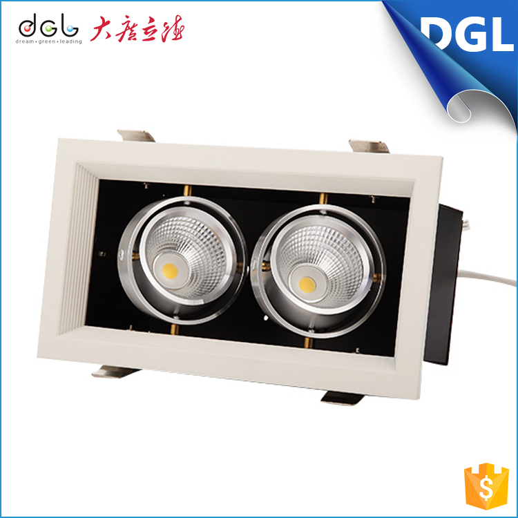 Hot Selling Recessed Two Heads12w Led Grille Lamp Adjustable ...