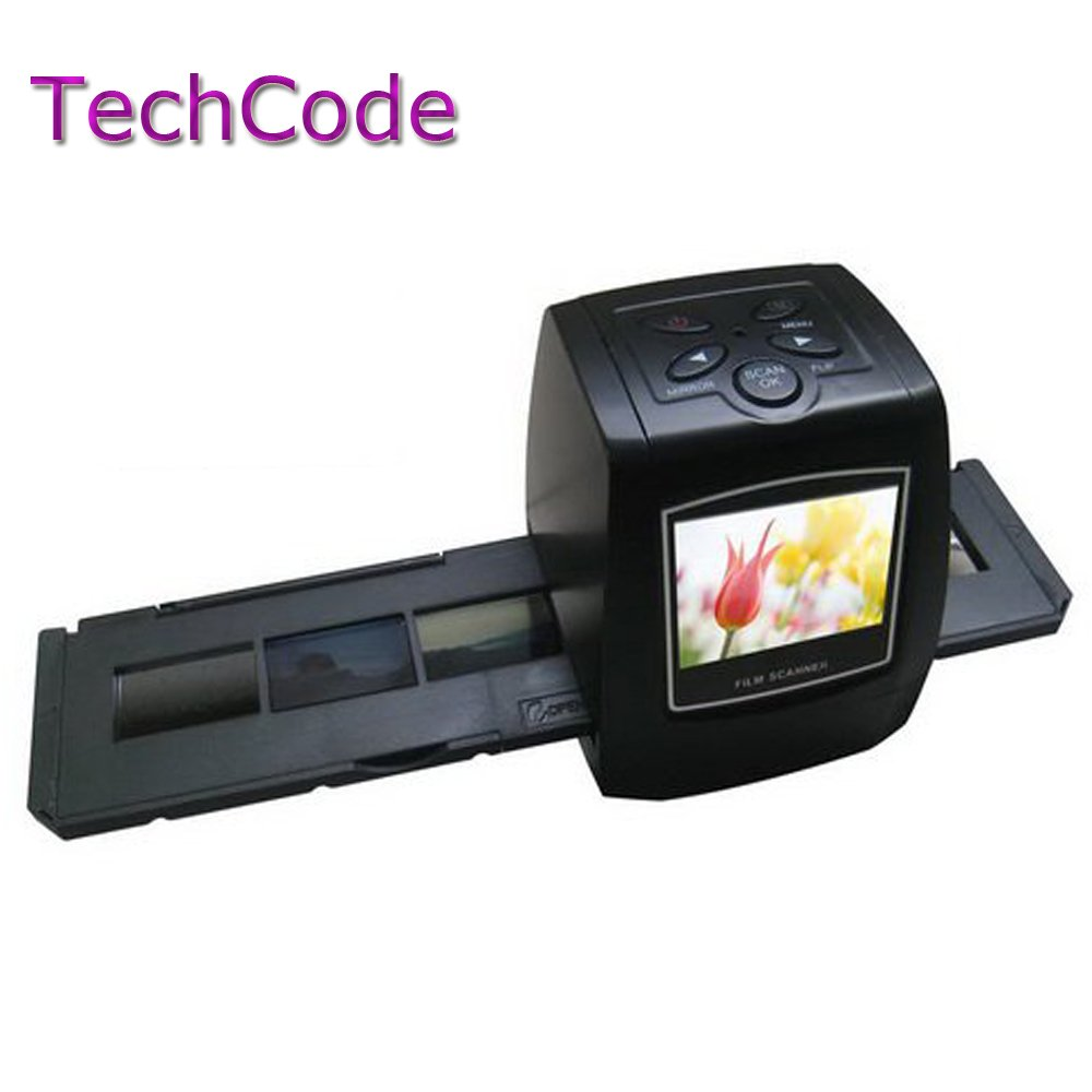 TechCode5MP 35mm Negative Film Slide VIEWER Scanner USB Digital Color Photo Copier (With 32G SD Card)