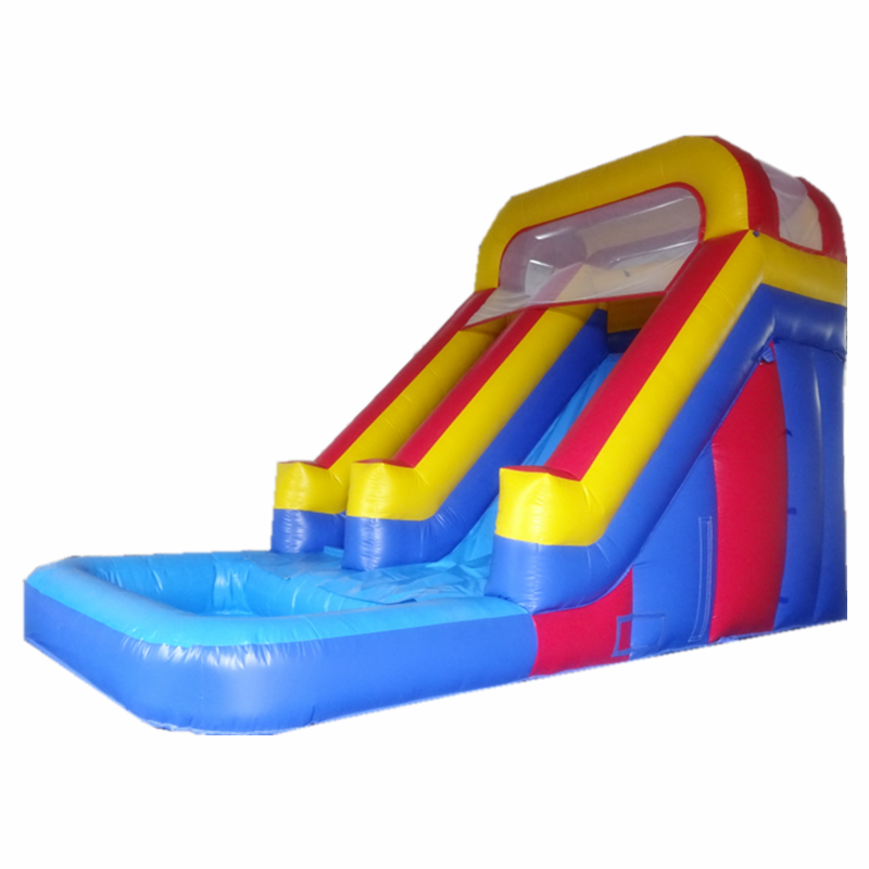 2018 bouncer toys used cheap adult size inflatable water slides with pool for sale