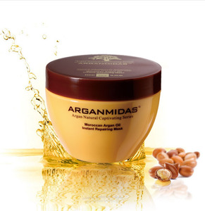 Professional salon hair mask with morocco argan oil
