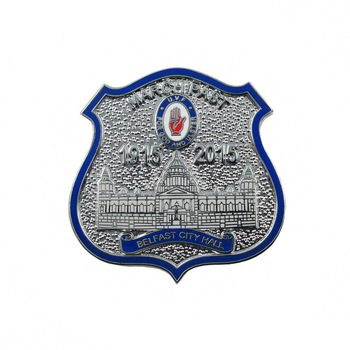 Fabrikant Custom Souvenir Harde Emaille Metalen DIY Leger Politie Shield Security Revers Pin