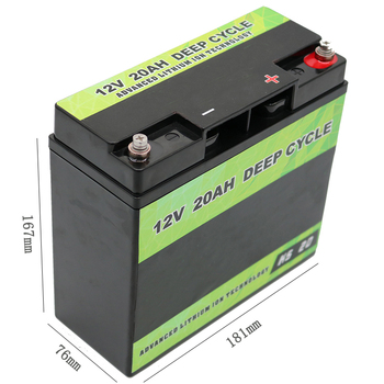 262mm x 170mm x 190mm Size and 12V Voltage LiFePO4 Battery