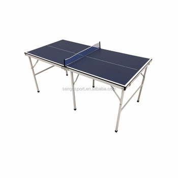 Mini Table Tennis Ping Pong Kids Indoor Game Room Portable Folding Table