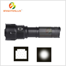 Ningbo Brightenlux Aircraft Aluminum Long Beam Best Most Powerful Zoomable Tactical Rechargeable Cree led 10W xml-2 Flashlight