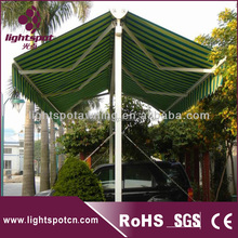 Car parking large automatic aluminum commercial garden popular double side awning