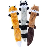 New Design fashion Dog Gift Pet Chew Fox Squirrel No Stuffed Soft Plush Animal Sound Squeaky Dog Toy