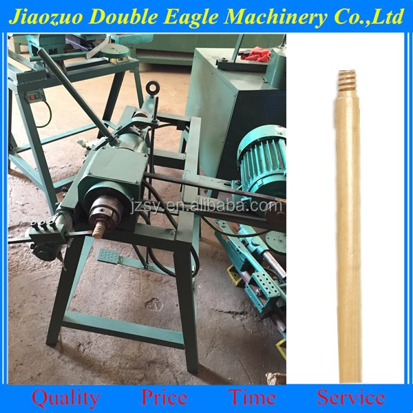 broom handle screw thread maker / mop stick processing machine