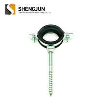 hardware light hanging hose clamp with black rubber