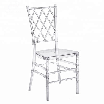 China high quality transparent acrylic used resin chiavari chairs for sale